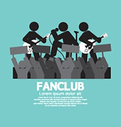 Fan club the big fan of the band vector