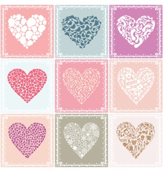 heart collections vector image