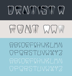 Tooth font vector