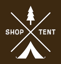 Vintage logotype of camping or shop vector