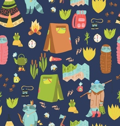 Summer adventure seamless pattern vector