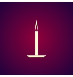 Candle icon flat design style vector