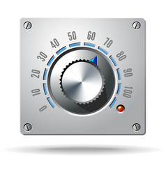 Analog Control Electronic Regulator Knob vector image