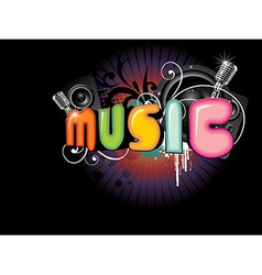 Beautiful music background vector