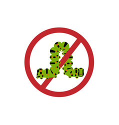 Caterpillar ban symbol vector