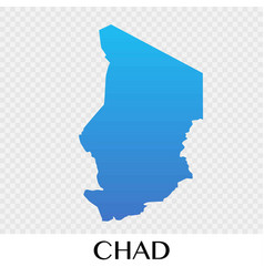 Chad map in africa continent design vector