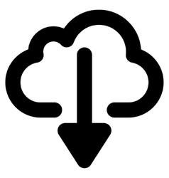 Cloud download stroke icon vector