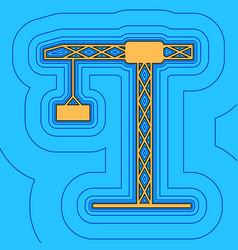 construction crane sign sand color icon vector image