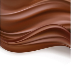 Creamy chocolate background vector