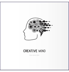 Creative mind - business logo template vector image vector image