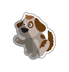 dog cartoon drawing sitting vector image vector image