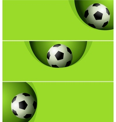 Football banners vector