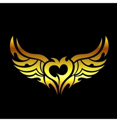Golden devilish tattoo vector image