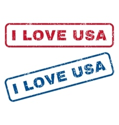 I Love USA Rubber Stamps vector image vector image