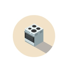 isometric of electric cooker stove 3d flat design vector image vector image