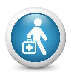 Medicglossy icon vector image