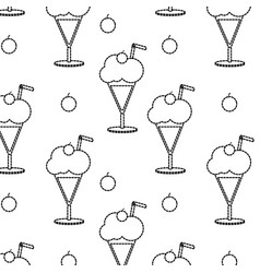 Milkshake background design vector