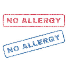 No allergy textile stamps vector