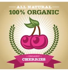 Organic Cherry vector image vector image