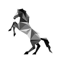 Origami black Horse vector image vector image