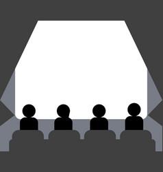 people watching movie at cinema hall vector image vector image