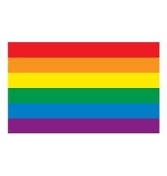 Rainbow flag vector