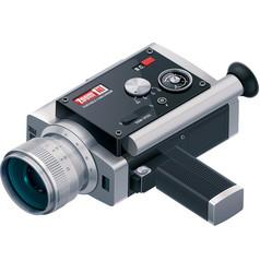retro camcorder icon vector image