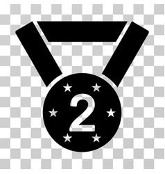 Second medal icon vector