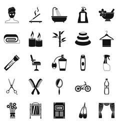 Secular reception icons set simple style vector
