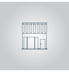 shop icon vector image vector image