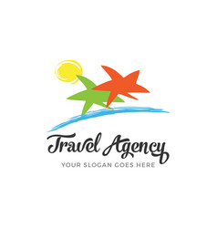 travel agency logo vector image vector image