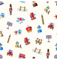 Travel to Great Britain pattern with famous vector image