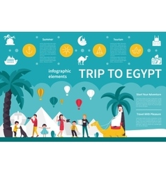 Trip To Egypt infographic flat vector image vector image