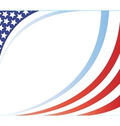 United states flag frame image vector