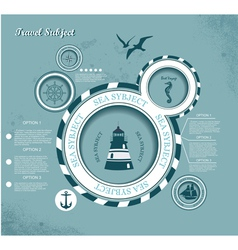 Voyage theme presentation template vector