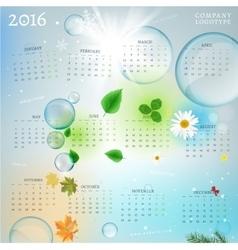 Year Calendar 2016 vector image