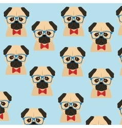 Dog animal hipster style vector image