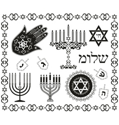 jewish religious symbols vector image