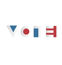 Voting concept voting campaign election typography vector