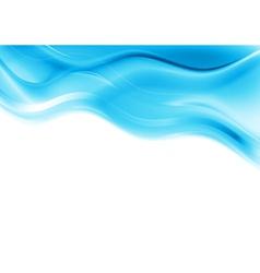 Blue smooth waves design vector image
