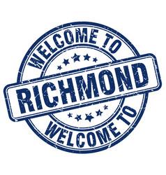 Welcome to richmond blue round vintage stamp vector