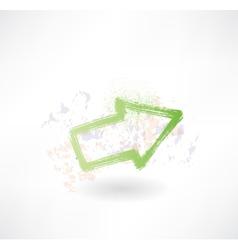 Green brush arrow icon vector