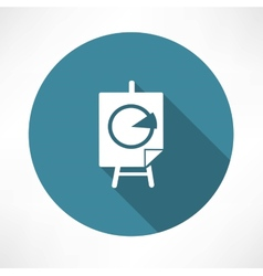Percentage diagram on the poster stands icon vector