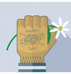 Happy valentines day tattoo greating card vector