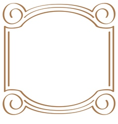 Square simple frame for design vector