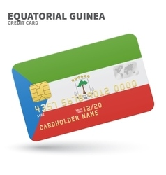 Credit card with equatorial guinea flag background vector