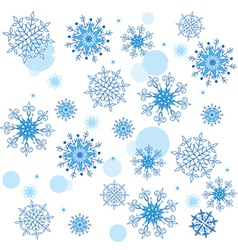 Texture of the snowflakes vector