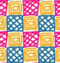 Painted pink blue and yellow squares vector
