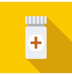 Medicine bottle icon flat style vector
