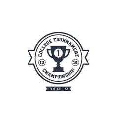 Classic sports tournament label vector